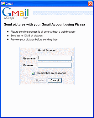Picase Gmail