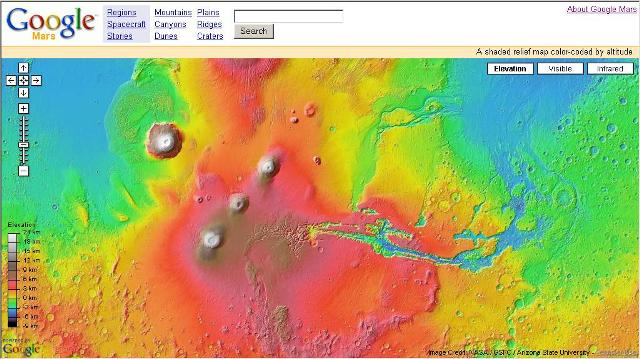Mars Map on Google   Tech Journey