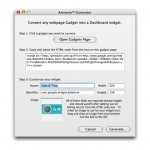 Convert and Install Google Gadgets as Apple Mac OS X Tiger Dashboard Widgets with Amnesty Generator