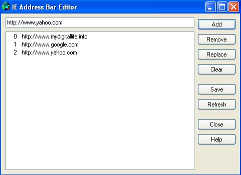 IE Address Bar Editor 2