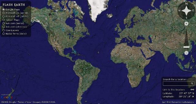 Terra Earth Map.View Google Earth In Web Browser Plus Easy Switching With