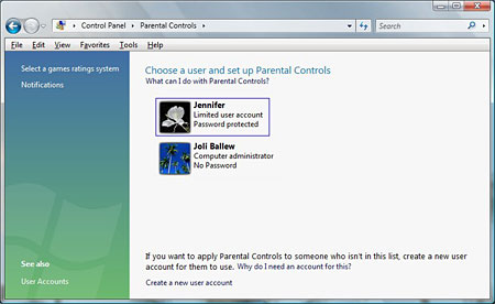 Windows Vista Parental Controls