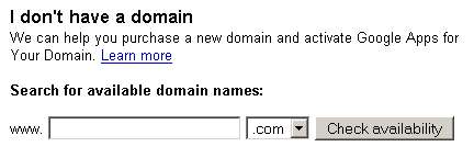 Google Domain Registration