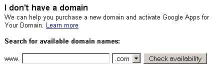 Google Domain Registration