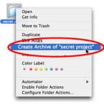 Zip and Compress Files and Folders with Create Archive in Mac OS X v10.4 Tiger