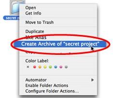 Create Archive in Mac