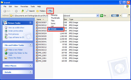 Change View in Windows Explorer