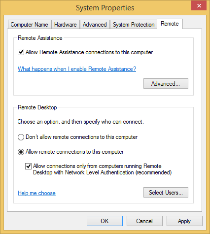 Enable Remote Desktop Client Windows Vista - Tenmakaquarci