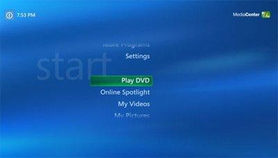 Windows Vista Media Center