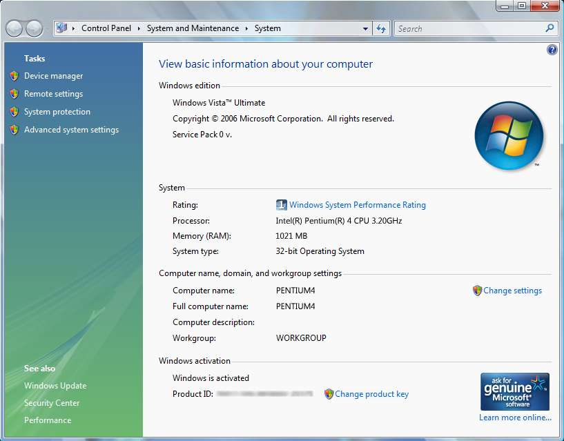 How to Change Windows Vista Product Key - Tech Journey