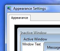 Default Windows Vista and Windows 7 Border