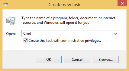 Create New Task with Administrative Privileges