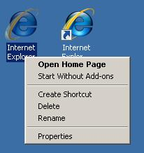IE7 Icon and Shortcut