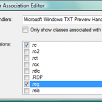 Free Download: Preview Handler Association Editor to Group Same Type of File with Different Extensions