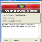 Patch to Use and Install Windows Vista on Computer with Only 256MB Memory