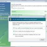 Disable Security Center Alerts in Windows XP and Vista