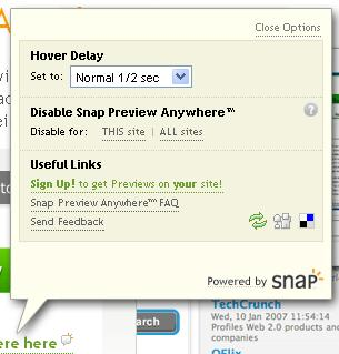 Disable Snap Preview Anywhere