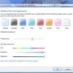 Disable Windows Vista & Windows 7 Aero Glass Transparency Effect