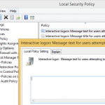 Display Logon Message Text and Message Title in Windows (Local & Group Policy)