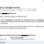 AdSense Login to Update to Google Account