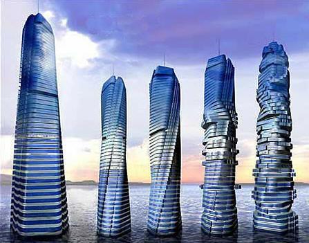 Dynamic Archictecture Rotating Skyscraper in Dubai