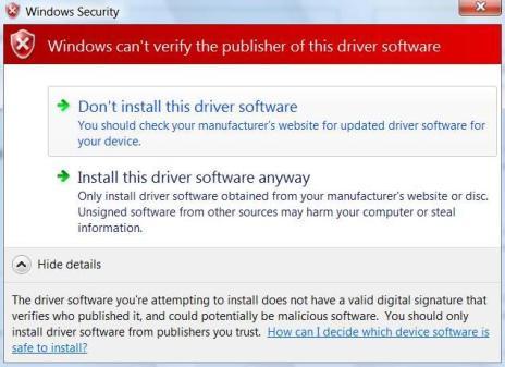 RAMdisk Install Warning
