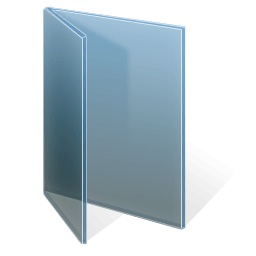 Adjusted Glass Folder Black and Blue