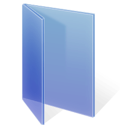 Adjusted Glass Folder Epic Blue