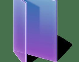 Adjusted Glass Folder Purple
