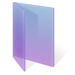 Adjusted Glass Folder Purple