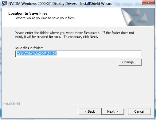 NVIDIA install path