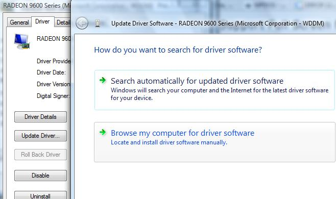 Browse for Driver