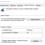 Disable and Turn Off System Restore (System Protection / Shadow Copy) in Windows