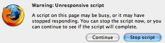 Firefox Unresponsive Script