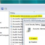 Enable Administrator Account in Windows with Local Security Policy