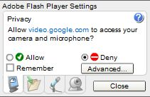 Adobe Flash Advanced Settings