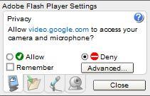 Adobe Flash Advanced Settings