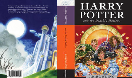 Harry Potter and The Deathly Hallows 7 Cover Spread