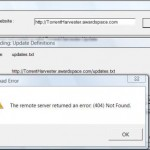 Torrent Harvester Engines Definitions Unable to Update Fail Error Fix