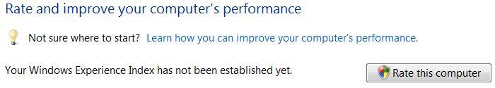Rate Vista Computer Assessment