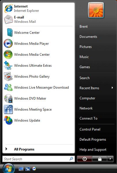 Run amp frequently used programs list in windows 7 amp vista start menu