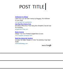 Blogger AdSense at Top