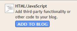 Add HTML/JavaScript to Blog