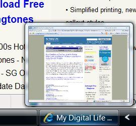 Vista Taskbar Window Preview Thumbnail