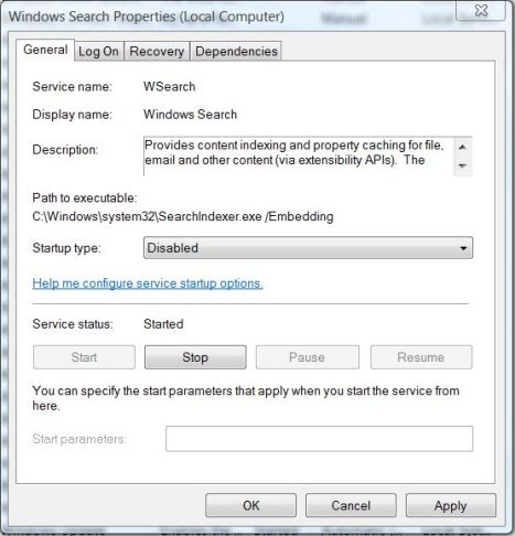 Disable and Turn Off Windows 10 / 8.1 / 8 / 7 Search Indexer and