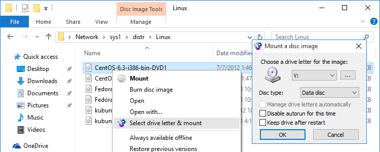 How to Mount & Open ISO, BIN, IMG, MDS and Other CD or DVD Disc
