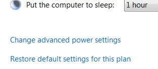 Change Advanced Windows Power Settings