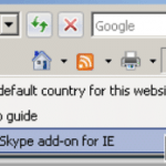 Disable, Uninstall and Remove Skype Add-On Call This Phone Number on Web Page and Toolbar Plugin Menu in IE