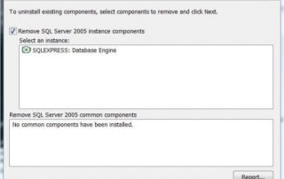 Uninstall SQL Server 2005 Components