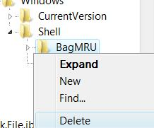 Delete Bagmru in Registry